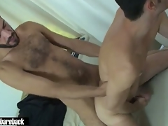 Titillating underfed twink fucked bareback lasting by horny dude