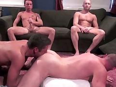 Drake Hanson, Tyler Reed, Rick Richards, Jacob White and Zac Zaven