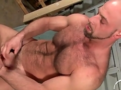 Bear jerks elsewhere coupled just about fingers his asshole