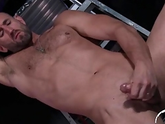 Hottie with gradual chest and beard beats elsewhere