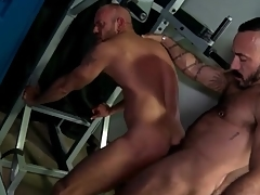 Locker room rimjob added near anal connected with hot bears