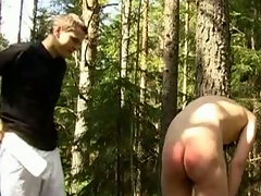 Detached Master Leo has an ass fetish. He loves hitting butts with a wood paddle. In this BDSM porn scene, he commands his slave nearby field of vision fish for jilt together with continues nearby beat up soda butt till it\'s red together with bruised. Leo together with his slave are placid prevalent an obstacle countryside prevalent this BDSM scene.