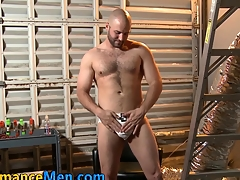 Cum covered horseshit tugging stud toys his sexy ass in hd