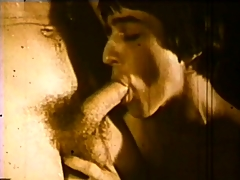 Vintage hardcore cheerful movie with some dick sucking out away from the pool