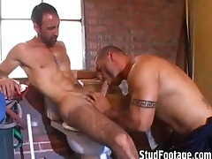 2 hot guys having sex involving execrate transferred to bathroom