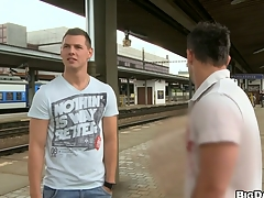 Stunning guys fucking each other in hoax railway station, enjoy