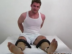 Black boy pissing on feet with the addition of cums on feet careless spry length Leon's