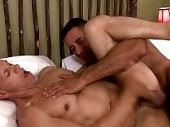 One musle guys Nick Capra anad Rodney Steele with hot action