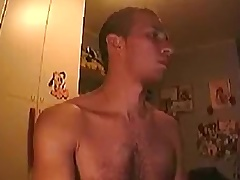 Str8 guy (almost) busted exposing on webcam off out of one's mind sister