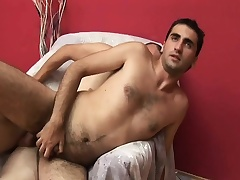 Twosome gays accelerate at it with hot cock sucking and tasteless ass bonking